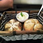 Bread rolls with garlic butter