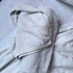 towels look dark