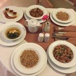 """Desayuno,""""nachos """"from room service,desayuno(chorizo gordita y taco de papa) fine dinning room s"""