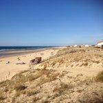der spektakuläre Strand von Mimzan Plage