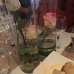 Lovely roses on the table.