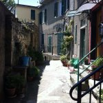 Corniglia quiet street in mid day