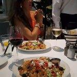 Greca salad with grilled shrimps-yummmy!!!