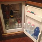 The refrigerator was nicely stocked, although no diet-soda