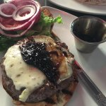 seared burger
