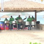 Sunday lunch was fantastic with a superb steel band and people were dancing . One of the worlds