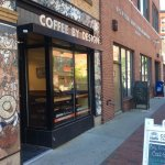 Coffee by design near the art gallery and many other neat places in downtown Portland
