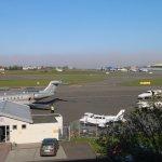 Airport next door
