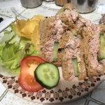 Tuna and cucumber sandwich