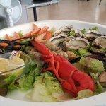 plateau de fruits de mer à 45€ pour une personne avec demi homard
