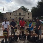 Darnell group in front of the Alamo - San Antonio TX