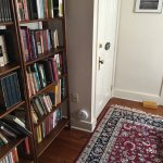 Small library area outside our doorway
