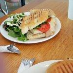 Texas Wave Sandwich with Avocado Ranch Salad