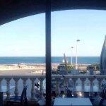 Vue sur la mer du restaurant