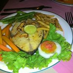 Club sandwich, Grilled seer fish, Grilled chicken and the Prawn cocktail..