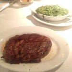 ribeye and creamed spinach