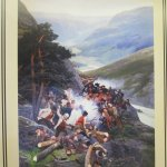 In the restaurant: Painting of the Scots/ Norwegian battle on site