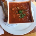 The minestrone soup is loaded with fresh vegetables and is so tasty.
