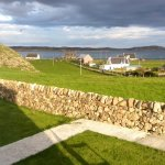 The view from our room looking at the Sound of Iona.