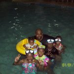 indoor pool with grand kids