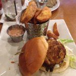 Maryland Crab Cake Sandwich with Potato Wedges