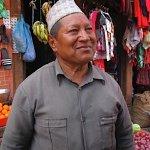 A Newar shopkeeper near Changu Narayan temple