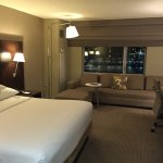 Very comfortable and spacious room, view of the ferry dock on the South side, and unobstructed v