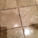 Dirty or moldy grout in shower