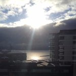 Sun on the water from 7th floor