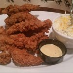 Calabash Chicken with Cream Cheese Grits