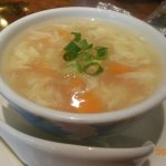 Egg drop soup that came with our combination plate some of the best we have tasted.