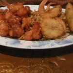 My husband got combination #6, Chicken chow mein, Sweet & Sour Pork, Fried Prawns, Egg Roll