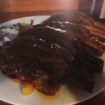 This is the 1KG Beef Ribs with beer battered chips and coleslaw.
