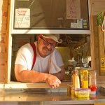 Pete, the owner of Tepee Peet's Chow Wagon