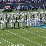 Football halftime--the AF band was great!