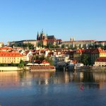 Charles Bridge and views over the castle district are a five minute walk away
