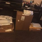 Look how neat the packages were ordered, and so many of them! Kudos to the staff!