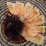 Sashimi, mixed dozen, wagyu platter with cauliflower Gruyere gratin, frozen salted hazelnut slic