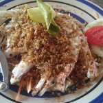 The best fried garlic and pepper crab