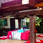 Bale for meals and relaxing in garden environment
