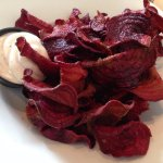 beet chips with chipotle mayo