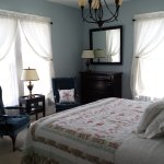 The Governor's Room is one of 4 guest rooms with en suite bath (shower only) and king-sized bed.