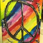 Kelly from our Art Camp shared this painting with Fox5 Atlanta for Peace in Orlando
