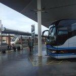 Train and Bus at the estacion
