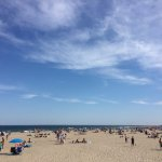 The beach/