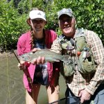 Nice rainbow trout with High Country Fishing Charters