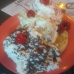 Banana Split that took three of us to eat it all