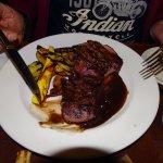 The steak