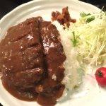 Hamburger Curry Rice Meal.
