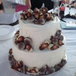 Our seashell wedding cake